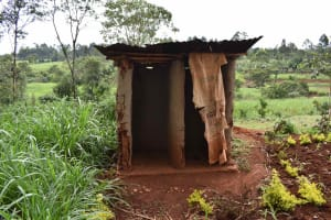 The Water Project: Chimoroni Community, Maurice Luta Spring -  Pit Latrine