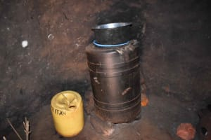 The Water Project: Chimoroni Community, Maurice Luta Spring -  Water Storage Container