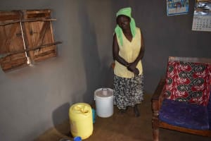 The Water Project: Chimoroni Community, Maurice Luta Spring -  Water Storage Containers