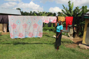 The Water Project: Shiana Community, Masiache Spring -  Airing Clothes