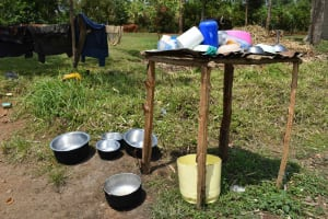 The Water Project: Shiana Community, Masiache Spring -  Dishrack