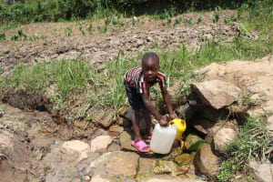 The Water Project: Shiana Community, Masiache Spring -  Drawing Water