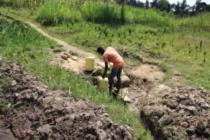 The Water Project: Shiana Community, Masiache Spring -  Drawing