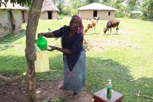 The Water Project: Shiana Community, Masiache Spring -  Handwashing Station