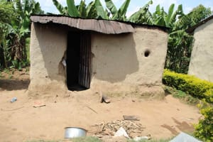 The Water Project: Shiana Community, Masiache Spring -  Outside Kitchen