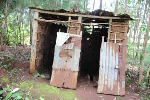 The Water Project: Shiana Community, Masiache Spring -  Pit Latrine