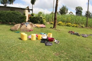 The Water Project: Shiana Community, Masiache Spring -  Water Containers