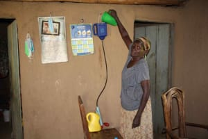 The Water Project: Shiana Community, Masiache Spring -  Water Treament
