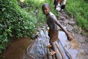 The Water Project: Mungakha Community, Mungakha Spring -  Pharel At Water Point