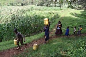 The Water Project: Mungakha Community, Mungakha Spring -  Pharel And Caroline