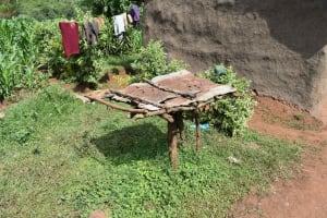 The Water Project: Mungakha Community, Mungakha Spring -  Dishrack