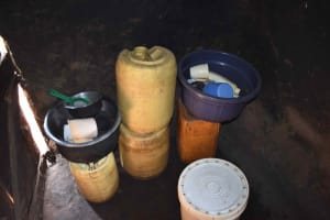 The Water Project: Mungakha Community, Mungakha Spring -  Water Storage Containers