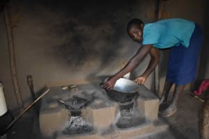 The Water Project: Makunga Community, Akinda Spring -  Hellen Preparing To Cook