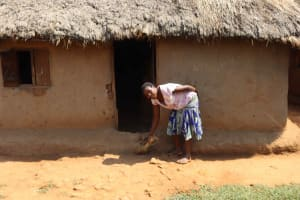 The Water Project: Makunga Community, Akinda Spring -  Hellen Sweeping Compound