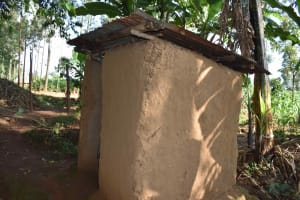 The Water Project: Makunga Community, Akinda Spring -  Latrine