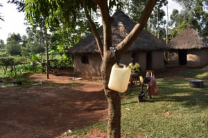 The Water Project: Makunga Community, Akinda Spring -  Leaky Tin