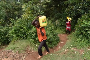 The Water Project: Makunga Community, Malaha Spring -  Carrying Water