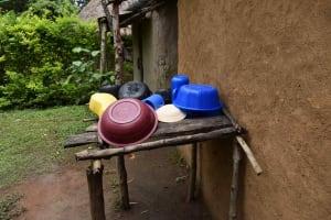 The Water Project: Makunga Community, Malaha Spring -  Dishrack