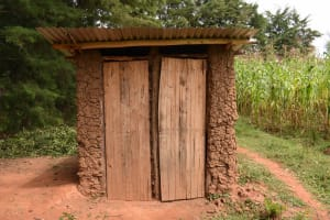 The Water Project: Makunga Community, Malaha Spring -  Latrine