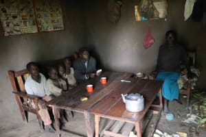 The Water Project: Makunga Community, Malaha Spring -  Elvine With Family