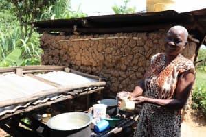 The Water Project: Emulele Community, Fanice Opati Spring -  Washing Utensils