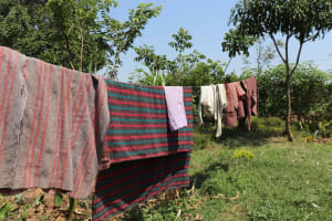 The Water Project: Emulele Community, Fanice Opati Spring -  Clothesline