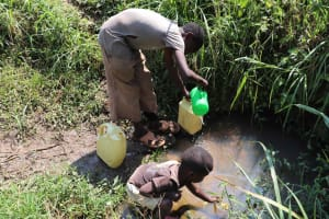 The Water Project: Emulele Community, Fanice Opati Spring -  Kids At Waterpoint