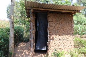 The Water Project: Emulele Community, Fanice Opati Spring -  Latrine