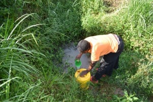 The Water Project: Emulele Community, Fanice Opati Spring -  Scooping
