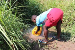 The Water Project: Emulele Community, Fanice Opati Spring -  Waiting