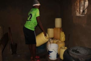The Water Project: Isembe Community, Mangala Spring -  Storing Water
