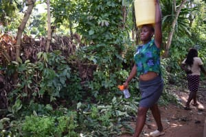 The Water Project: Isembe Community, Mangala Spring -  People Carrying Water