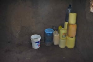 The Water Project: Isembe Community, Mangala Spring -  Storage Containers