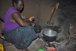 The Water Project: Isembe Community, Mangala Spring -  Tecla In Kitchen