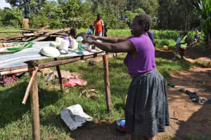 The Water Project: Isembe Community, Mangala Spring -  Tecla Washing Dishes