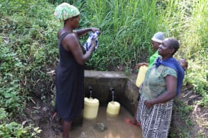 The Water Project: Isembe Community, Mangala Spring -  Waiting For Water