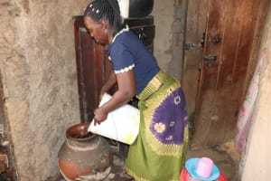 The Water Project: Isembe Community, Inyende Spring -  Storing Water