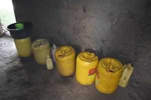 The Water Project: Isembe Community, Inyende Spring -  Water Storage Containers