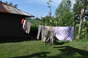The Water Project: Isembe Community, Inyende Spring -  Clothes Drying