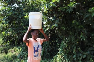 The Water Project: Isembe Community, Inyende Spring -  Fetching Water