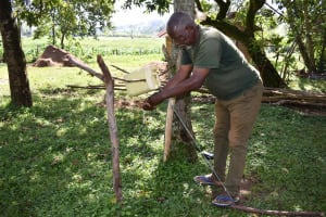 The Water Project: Isembe Community, Inyende Spring -  Marko Washing Hands