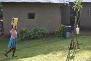 The Water Project: Emaongoyo Community, Philip Mwando Spring -  Carrying Water