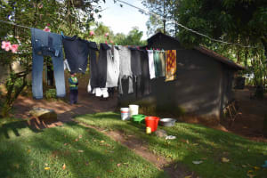 The Water Project: Emaongoyo Community, Philip Mwando Spring -  Clothes Drying