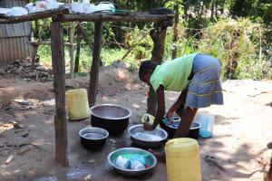 The Water Project: Emaongoyo Community, Philip Mwando Spring -  Dishrack
