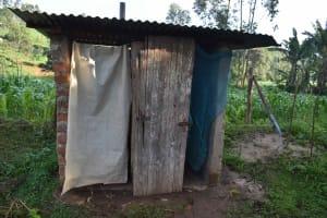 The Water Project: Emaongoyo Community, Philip Mwando Spring -  Latrine