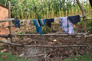 The Water Project: Lunyinya Community, Steven Shitundo Spring -  Drying Clothes