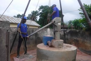 The Water Project: Masoila Roman Catholic Primary School -  Bailing