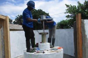 The Water Project: Masoila Roman Catholic Primary School -  Pump Installation