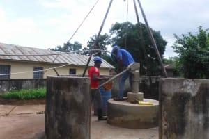 The Water Project: Masoila Roman Catholic Primary School -  Yield Test
