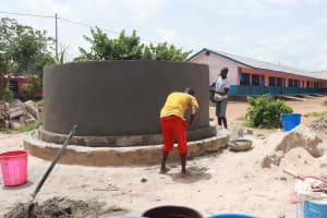 The Water Project: Masoila Roman Catholic Primary School -  Pad Construction